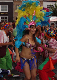 thema feest tropical limbo dans